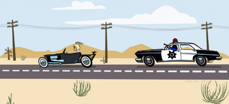 Chased By Police | Hot Rod Bunny